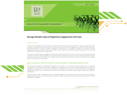 Regulatory Engagement Management