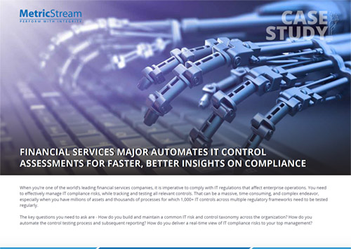 A Financial Services Case Study: Automating IT Control Assessments
