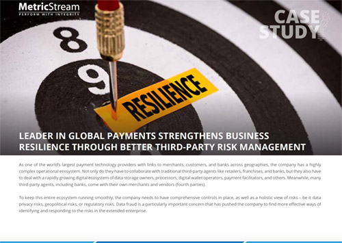 Leader In Global Payments Strengthens Business Resilience Through Better Third-Party Risk Management