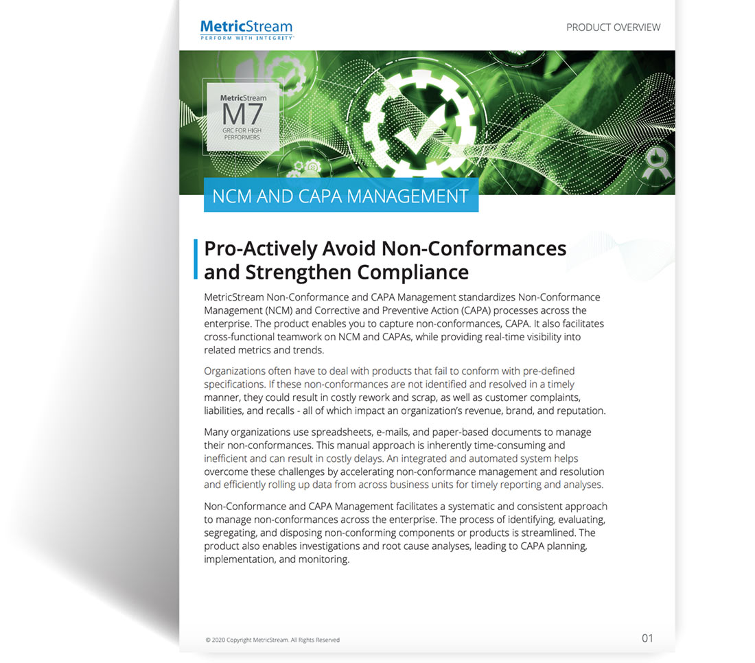 Non-Conformance and CAPA Management
